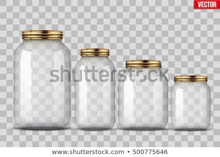 Glas jar weiß Flasche Leben Retro Stock foto © gavran333