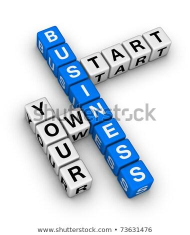 Your Career On Blue Puzzle Stok fotoğraf © ALMAGAMI