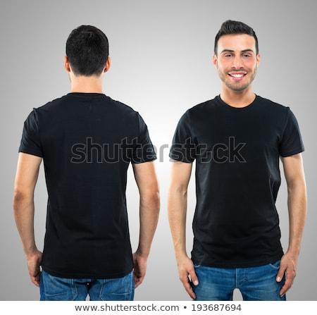 футболки молодым человеком за изолированный белый Сток-фото © ashumskiy
