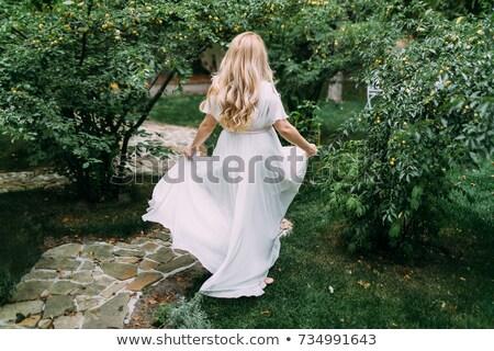женщину · танцы · солнце · парка · трава · человека - Сток-фото © dariazu