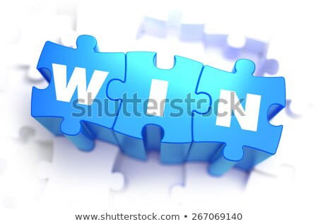 Win - White Word on Blue Puzzles. Stock photo © tashatuvango