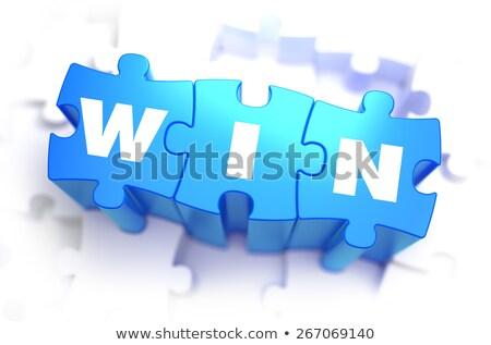 ambição · branco · palavra · azul · ilustração · 3d · cor - foto stock © tashatuvango