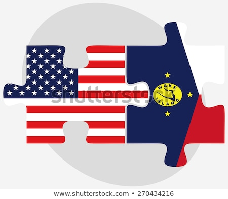 USA and Wake Island Flags in puzzle stock photo © Istanbul2009