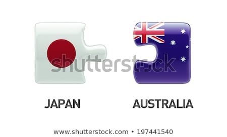 Australia and Japan Flags in puzzle Stock photo © Istanbul2009