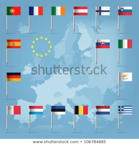 Bandeira pin Malta isolado branco mundo Foto stock © MikhailMishchenko