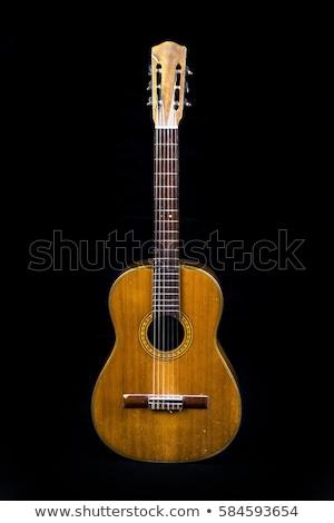Eski gitar renk katı vücut elektrik Stok fotoğraf © Bigalbaloo