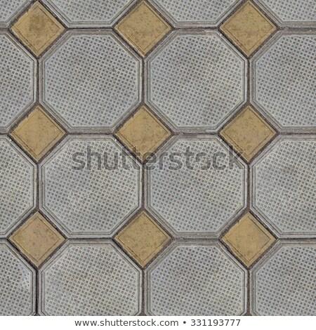 Cuadros fuera grande gris pequeño amarillo Foto stock © tashatuvango