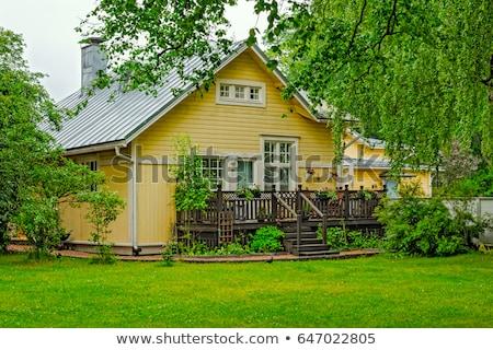 крестьянский · дома · зима · дерево · древесины - Сток-фото © olykaynen