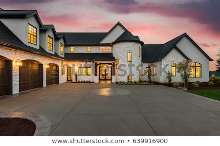fából · készült · létra · padlás · izolált · fehér · ház - stock fotó © bluering