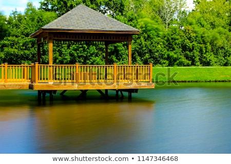 木製 · 桟橋 · 海 · 水 · 風景 · 橋 - ストックフォト © digifoodstock