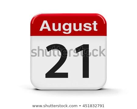 Augustus kalender twintig eerste Stockfoto © Oakozhan
