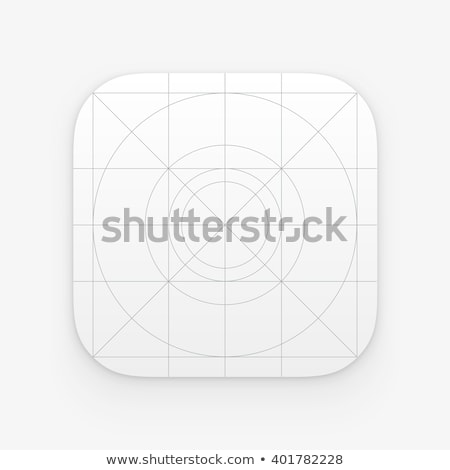 Application icon template with Guidelines, grids. Blank application icon for web and mobile. Vector  Stock photo © Said