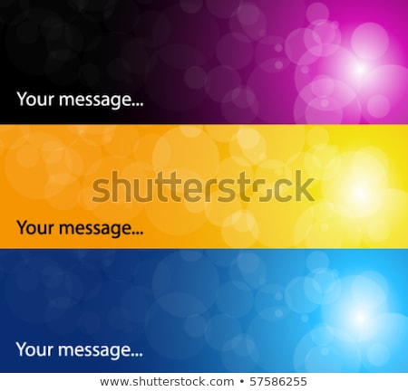 Three round fiery banner Stock photo © blackmoon979
