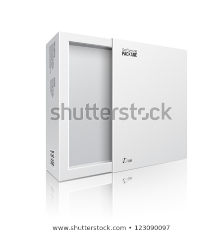 3d Illustration of Opened Gray Software Package Box For Your Product Stock photo © tussik
