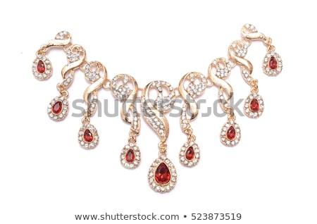 ювелирных · ожерелье · изолированный · белый · аннотация · фон - Сток-фото © elnur