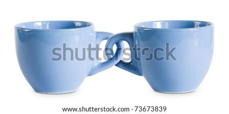 кофе · два · красивой · кофейные · чашки · Постоянный - Сток-фото © lithian