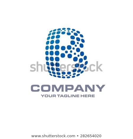 Yaratıcı kartvizit dizayn mavi parçacıklar dalga Stok fotoğraf © SArts