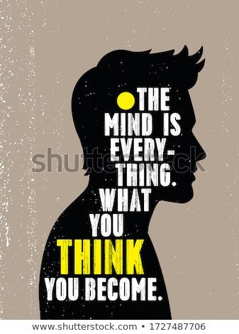 Quote poster design stock photo © Vanzyst