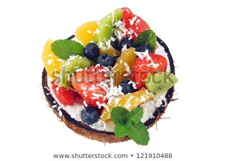 fruit salad in coco Stock photo © M-studio