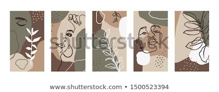 simple feminine background with smartphote stock photo © manera