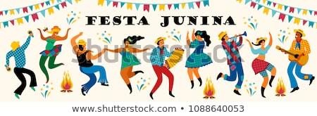 latin american festa junina festival background poster design stock photo © sarts