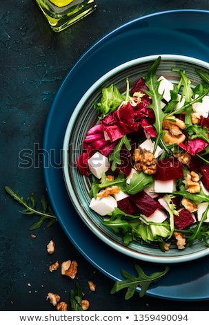 Raiz de beterraba salada folha vermelho cozinhar almoço Foto stock © yelenayemchuk
