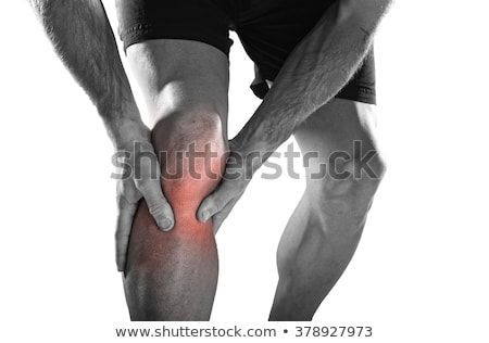 pain in leg isolated on white background stock photo © nobilior
