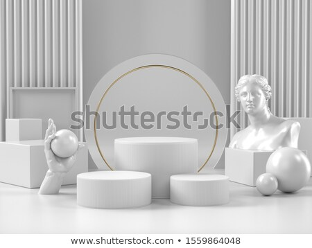 white cylinder podium roman stock photo © oakozhan
