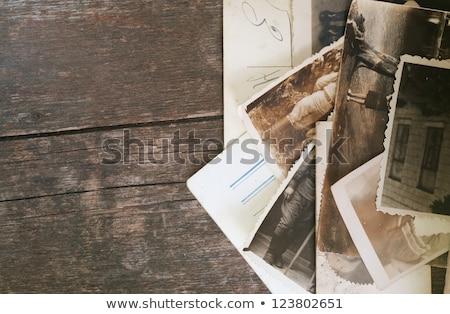Old photo in an vintage photoalbum Stock photo © IMaster