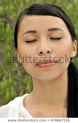 Portrait of a franco vietnamese woman Stock photo © IS2