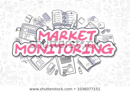 Análisis Cartoon magenta texto análisis de negocio dibujado a mano Foto stock © tashatuvango