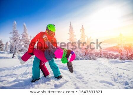 スノーボード カップル 女性 男 スポーツ ストックフォト © IS2