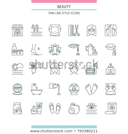 салона иконки линия дизайна Spa Сток-фото © Genestro