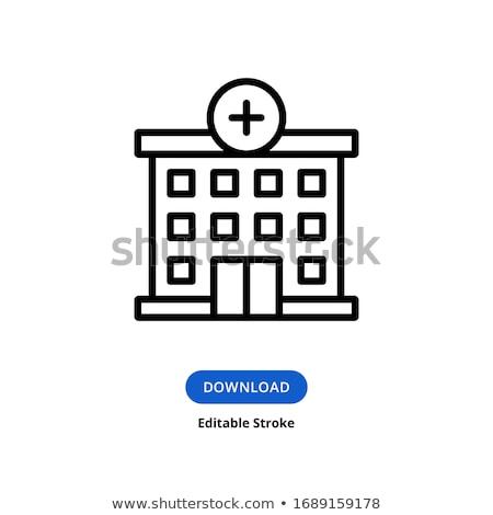 Hospital flat icon Stock photo © smoki