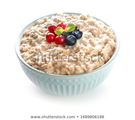 Tál kása fahéj reggeli édes egészséges Stock fotó © Digifoodstock