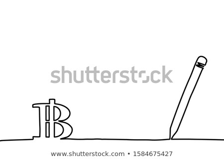 bitcoin · bányászat · vonal · terv · izolált · ikon - stock fotó © decorwithme