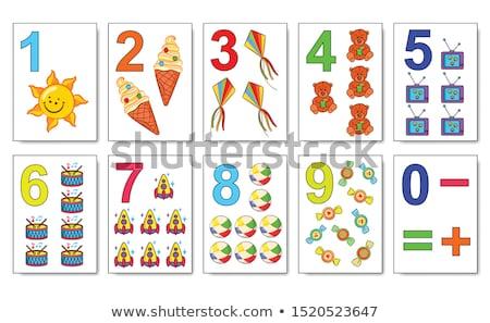 Math карт иллюстрация детей фон искусства Сток-фото © bluering