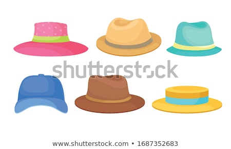 vektör · kovboy · ikon · şapka · büyük · bıyık - stok fotoğraf © robuart
