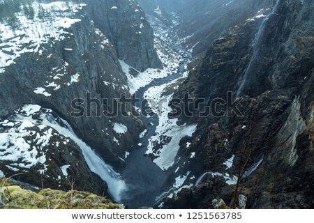 View on fjord and waterfall, Norway Stock photo © Kotenko