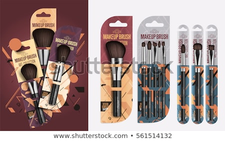 Packages and Brush Collection Vector Illustration Stock photo © robuart