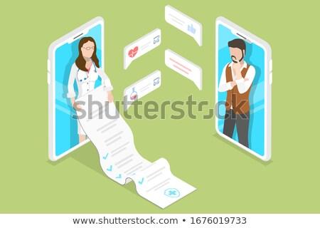 isometric flat vector concept of online pharmacy stock photo © tarikvision
