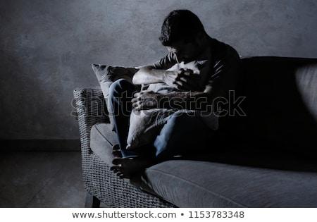 portrait a sad sick man stock photo © deandrobot