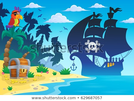 Image with pirate vessel theme 4 Stock photo © clairev