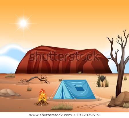 Uluru outback camping scene Stock photo © bluering
