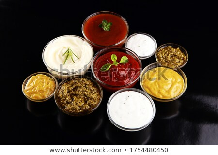 Ingesteld verschillend mosterd ketchup mayonaise licht Stockfoto © furmanphoto