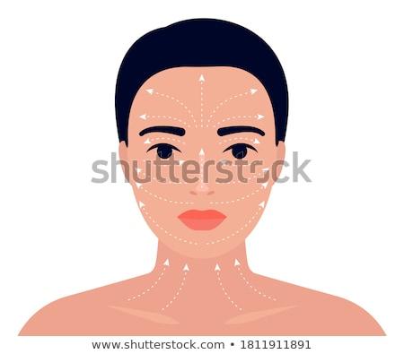 Facial Procedures and Massage Technique Vector Stock photo © robuart