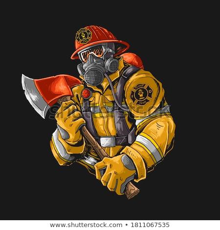 огня · службе · равномерный · икона · черно · белые · помочь - Сток-фото © netkov1