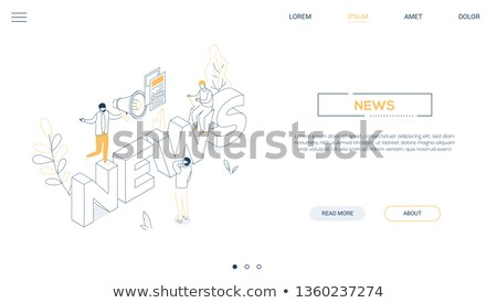 news concept   line design style isometric web banner stock photo © decorwithme