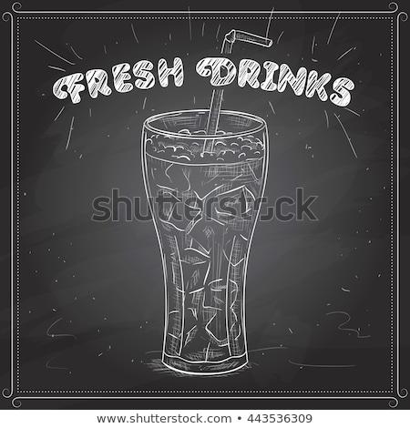 Cola стекла льда прибыль на акцию 10 Сток-фото © netkov1
