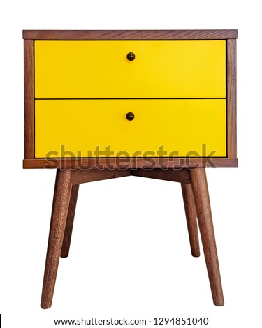 wooden nightstand with two drawers stock photo © magraphics